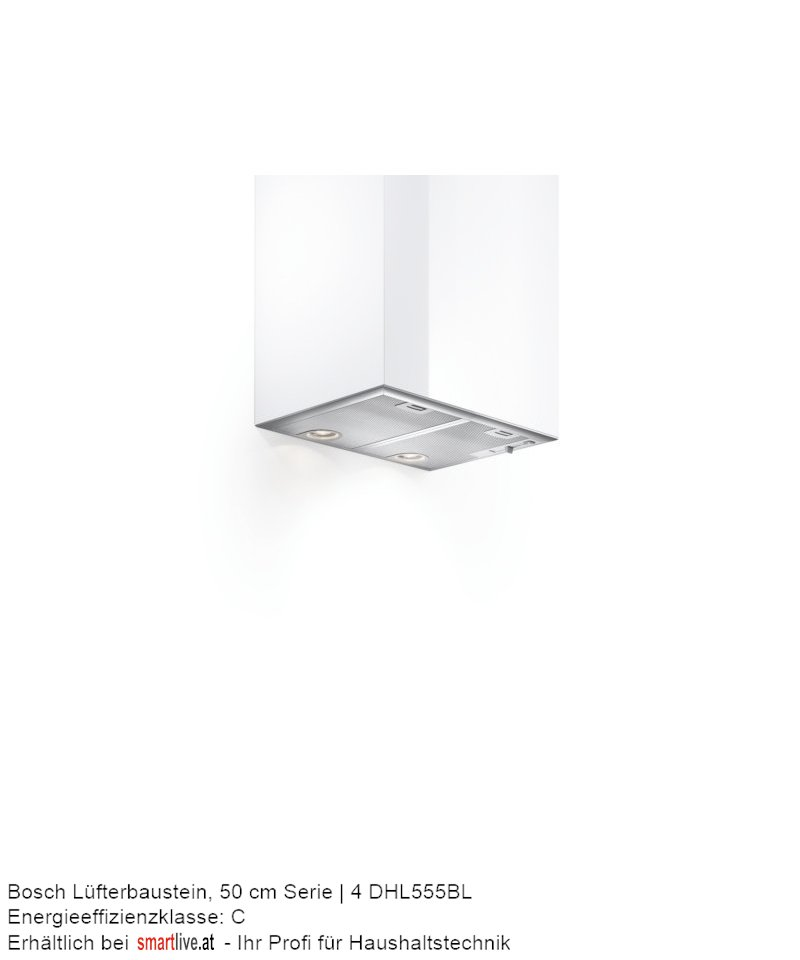 Bosch Lüfterbaustein, 50 cm Serie | 4 DHL555BL