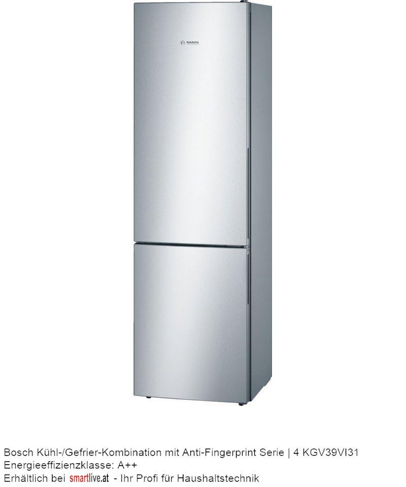 Bosch Kühl-/Gefrier-Kombination mit Anti-Fingerprint Serie   4 KGV39VI31