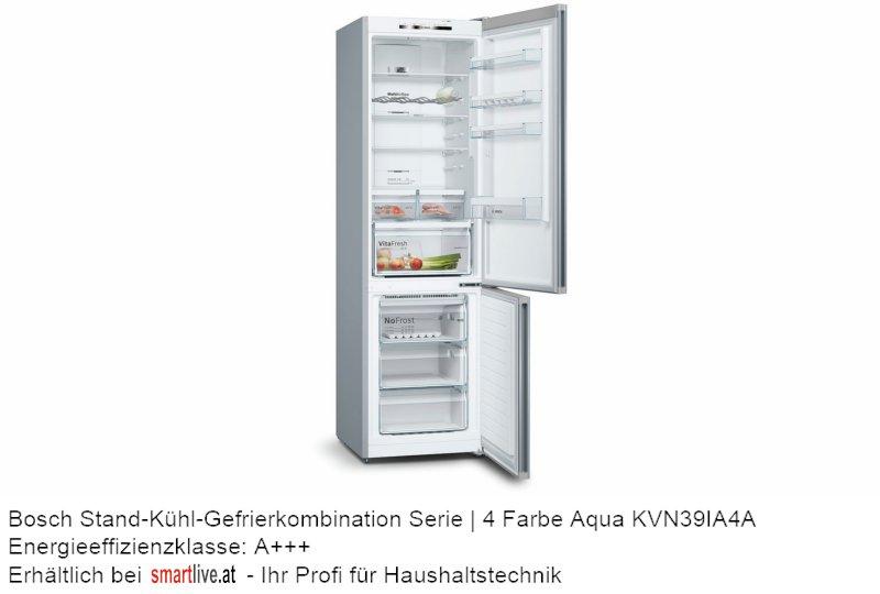 Bosch Stand-Kühl-Gefrierkombination Serie   4 Farbe Aqua KVN39IA4A