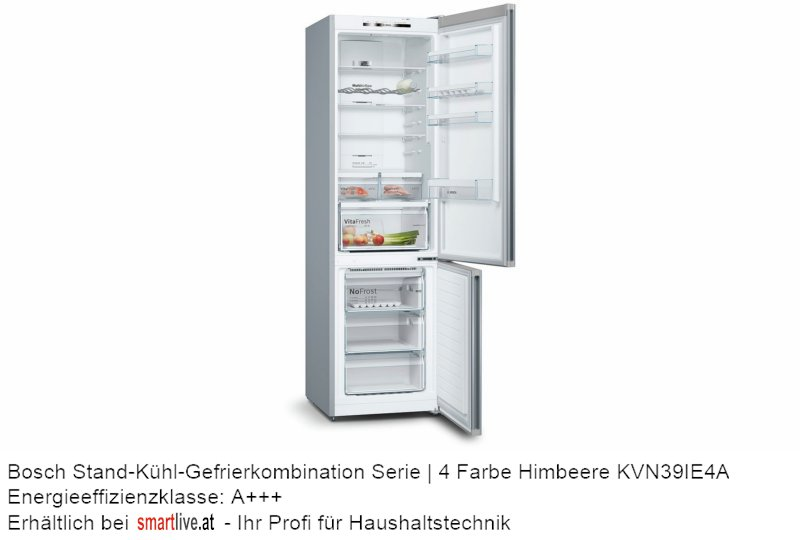 Bosch Stand-Kühl-Gefrierkombination Serie | 4 Farbe Himbeere KVN39IE4A